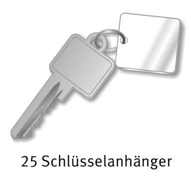 25 Schlüsselanhänger aus Acryl