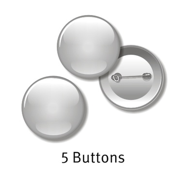 5 Buttons - 55 mm rund, mit Ihrem Motiv