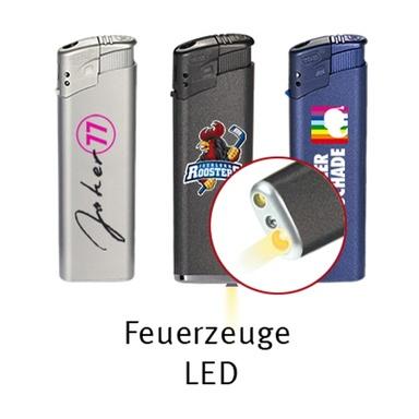 Feuerzeuge elektrisch mit LED-Lampe