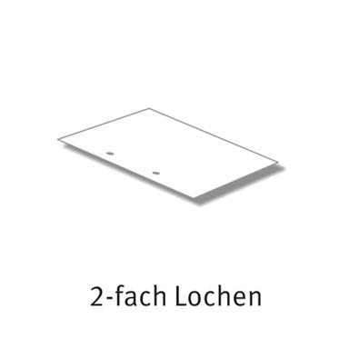 2- Fach Lochung