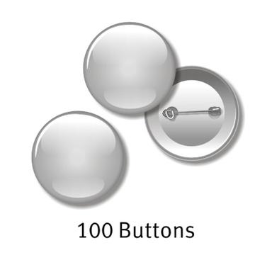 100 Buttons - 55 mm rund, mit Ihrem Motiv