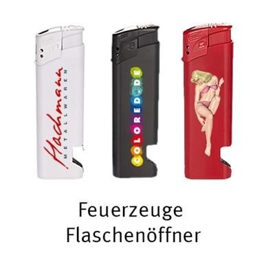 Feuerzeuge elektrisch mit Flaschenöffner